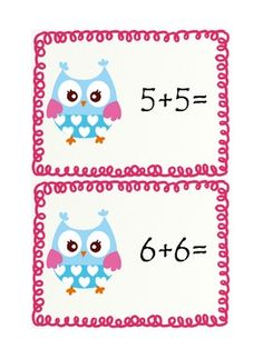 Here's a set of matching cards for practising doubles facts. Doubles Addition, Math Doubles, Doubles Facts, Math Addition, Addition And Subtraction, Daily 5 Math, Math 2, 1st Grade Math, Fun Math