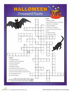 Worksheets: Halloween Crossword Puzzle #5