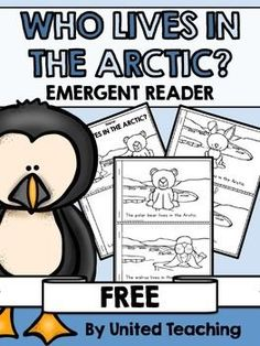 This free emergent reader is a great addition to a unit on Arctic animals.  The first page shows where the Arctic is located on Earth.  Following pages begin with the sentence: The 'name of arctic animal' lives in the Arctic.  ***Don't forget to check out my other Winter products***.