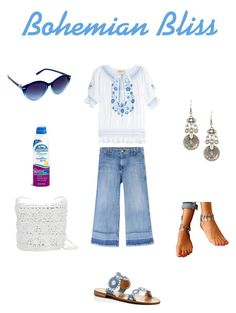 """The Boho Beachcomber"" by blue1022 ❤ liked on Polyvore featuring Muzungu Sisters, Current/Elliott, Jack Rogers, Magid, Nanette Lepore and Coppertone"