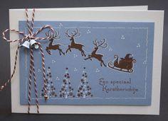 Clear stamp Leane: Santa & small Christmas trees (553707)   Clear stamps - Leane Creatief   marjoleine`s webwinkel
