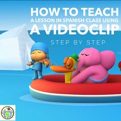 How to Teach a Lesson in Elementary Spanish Class Using a Video Clip- Step by Step (Mundo de Pepita) Spanish Lessons For Kids, Spanish Basics, Spanish Lesson Plans, Spanish Language Learning, Teaching Spanish, Foreign Language, Dual Language, Spanish Teacher, Learning English