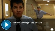 Is this only funny to teachers?  Video: Teachers Dance Behind Students in Prank Video | TeachHUB