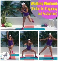 This walking workout is great for pregnant moms and the newly postpartum.