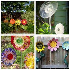Diy Flower Art for the garden