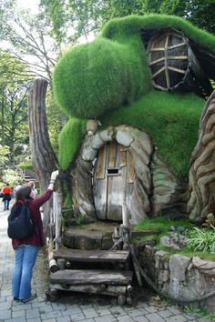 Gnome Yard Art   fairy tale cottage # forest