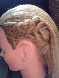 Feather braid.