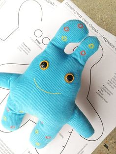Buy and sell handmade online. Australian handmade gifts, homewares, art, fashion and more direct from small scale Australian makers. Sell art and handmade craft online in Australia. Monster Crafts, Monster Toys, Sewing Projects For Kids, Sewing For Kids, Crazy Toys, Softie Pattern, Sock Toys, Sock Animals, Homemade Toys