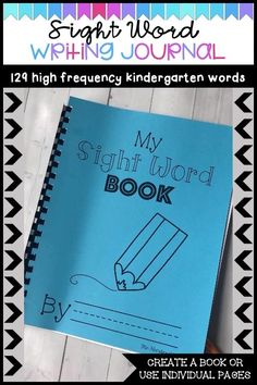 Use these sight word template pages to create a book, or use individual pages to practice using sight words within a sen Preschool Sight Words, Learning Sight Words, First Grade Sight Words, First Grade Writing, Sight Word Practice, Writing Practice, Writing Skills, List Of Sight Words, Sight Word Book