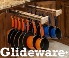 Install Glideware In Cabinet For Easy Access To Pots Pans This Is A New Product And Way Protect Your