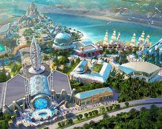 Polar Ocean World, ski park and planetarium feature in Shanghai Pudong masterplan