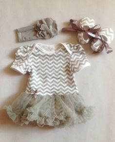 chevron baby romper with tutu. OMG! Have to have if Baby Ballard is a girl.