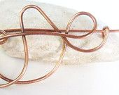 Free formed copper shawl or scarf pin