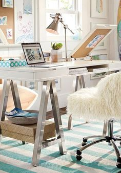 Chic a-frame desk. i'm in love!