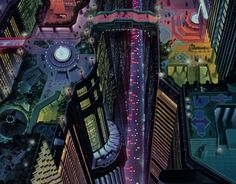 Neo Tokyo from Akira. not exactly a utopian society but the futuristic style is why I'm comparing it to cities like ghost in the shell's Hong Kong and neon Genesis version of Tokyo they all share a similar appeal . Cyberpunk City, Ville Cyberpunk, Cyberpunk Aesthetic, Blade Runner, Akira Anime, Tms Entertainment, Katsuhiro Otomo, Neo Tokyo, Tokyo 2020