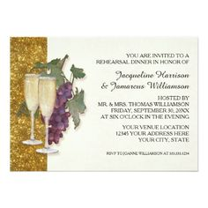 Shop Modern Wine Champagne Glass Theme Bridal Shower Invitation created by EverythingWedding. Personalize it with photos & text or purchase as is! Rehearsal Dinner Invitations, Simple Wedding Invitations, Wedding Rehearsal, Rehearsal Dinners, Bridal Shower Cards, Bridal Shower Invitations, Custom Invitations, Bridal Showers, Party Invitations
