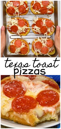 Dinner Recipes fast Make this yummy texas toast pizza recipe for your kids! It& easy and fast t. Make this yummy texas toast pizza recipe for your kids! It& easy and fast to make for dinner or lunch. Toast Pizza, Texas Toast, Butter Chicken Rezept, Cheap Meals, Cheap Recipes, Easy Recipes, Kids Cooking Recipes Easy, Easy Dinners For Kids, Dinner Recipes Easy Quick