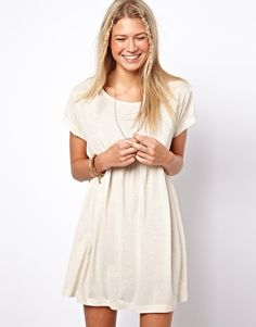 ASOS Smock Dress In Oatmeal Marl. (ONLY US SIZE 8 LEFT!!!)