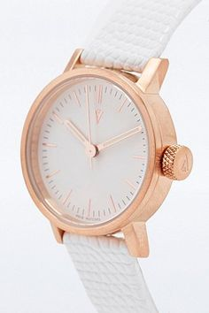 MINIMAL + CLASSIC: Void Watch in copper & white