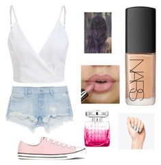 """Untitled #2"" by amber-king7 on Polyvore featuring Zara, Converse, NARS Cosmetics and Jimmy Choo"