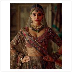 "Sabyasachi Jewelry: ""Charbagh featuring the Isfahan collection. Bridal Collection, Jewelry Collection, Sabyasachi Bride, Fashion Stylist, Signature Style, Indian Dresses, Lehenga, Fit, Sari"
