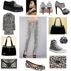 """""""Snow Leopard"""", fashions by haveheartdaily on Polyvore http://haveheartdaily.net/bag-your-jeans.html  Have Heart Daily"""