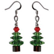Swarovski Elements Christmas Tree Earring  www.harmanbeads.com