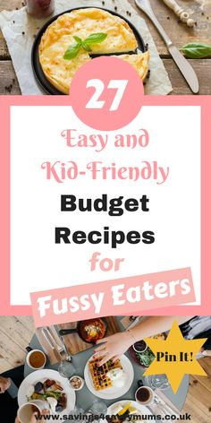 27 Easy and Kid Friendly Budget Recipes for Fussy Eaters That the Whole Family Will Enjoy - Savings 4 Savvy Mums - Family Friendly Meals - Recipe author Easy Family Meals, Healthy Meals For Kids, Frugal Meals, Cheap Meals, Budget Meals, Quick Easy Meals, Kids Meals, Budget Recipes, Family Budget