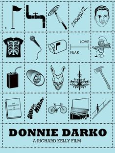 Donnie Darko - Iconic Film Posters: Telling stories in simplicity by Peter Stults, via Behance Movie Poster Art, Film Posters, Donnie Darko Tattoo, Geeks, Tattoo Nightmares, Katharine Ross, Fear Of Love, Alternative Movie Posters, Alternative Disney