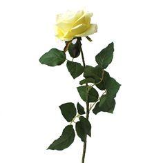 Fleur artificielle Rose  crème & vert 27,5''