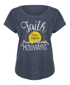 Look at this #zulilyfind! Heather Blue \'Move Mountains\' Tri-Blend Dolman Tee #zulilyfinds