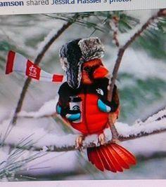 One smart bird! #starbucks #snow #cardinal