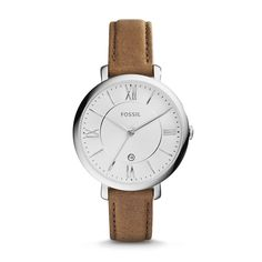 Classic design meets modern proportions. An artful construction inspired by the girl with a certain charm, our signature Jacqueline is updated in a chic three-hand movement and luxe tan leather strap.For a cool take on a classic style, we've updated Jacqueline with a slimmer, more refined case design.