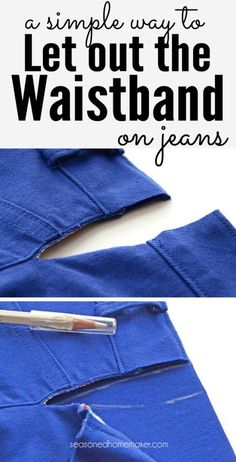 Are your jeans just a little snug in the waist? Learn the easiest way to Let Out the Waistband on Jeans. You don't need a lot of sewing experience to do this. Anyone can master this alteration on a pair of jeans. It only takes a few minutes to find comfort.