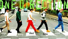 1Direction walks one direction together
