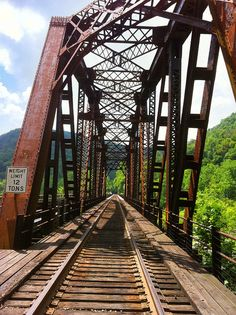 Train Trestle across the New River at Thurmond