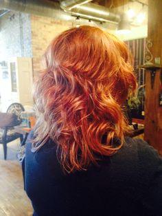 Copper fun #hairbycassierizzi #bellaamicisalon #traversecitymi