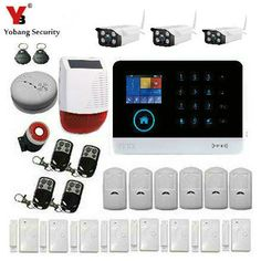 YobangSecurity Intruder Alarm System Wifi GSM GPRS Home Security System Burglar Alarm With Solar Power Siren Outdoor IP Camera #Affiliate