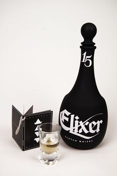Elixer Scotch Whisky Packaging Via blossomgraphicdesign.com on Pinterest