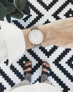 Grey vintage leather watch | Styling by @francoisaubret | $169 | Kapten & Son #kaptenandson #bekapten #watch #style #men #fashion