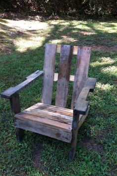 Lawn chair from pallet