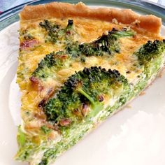 broccoli quiche--quick and easy. Make on a school night and have leftover for breakfast!