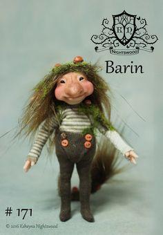OOAK Troll Art Doll Sculpture  Barin   by Ksheyna by nightswood