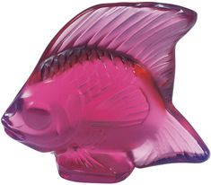 Fish Sculpture in Crystal Glass by Lalique Fish Sculpture, Sculptures, Ocean Home Decor, Fish Ornaments, Glass Ornaments, Art Deco Movement, Crystals In The Home, Angel Fish, Fuchsia