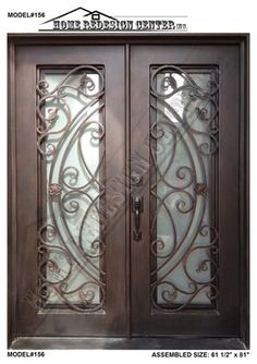 black front door with wrought iron - Google Search