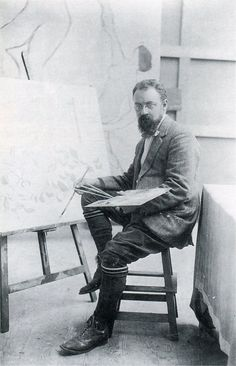 "Matisse at work on ""Still Life with Dance"" in his studio at Issy-les-Moulineaux, probably autumn Henri Matisse, Artist Art, Artist At Work, Artist Monet, Famous Artists, Great Artists, Online Art Courses, Atelier Photo, Acrylic Painting Lessons"