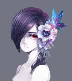 Touka. Age 15 she died and she doesn't realize that she did . She drowned when she was little