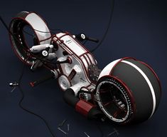 Lightcycle meets Vintage. I wonder if it will be more practical than the Tron bike thats out on the market.
