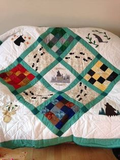 Hogwarts/Marauders quilt by noelle on craftster