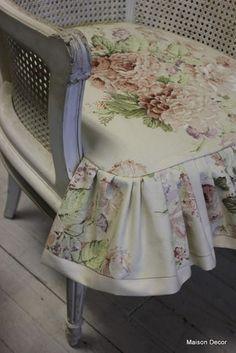 Slipcover detail~Maison Decor